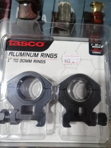 Anilla De Aluminio Tasco Para Mira 1'' Y 30 Mm Reforzados