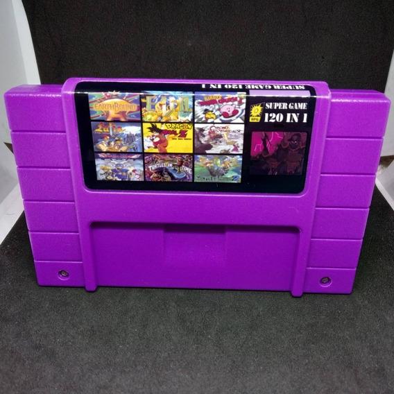 Fita / Cartucho Super 120 In 1 Jogos Super Nintendo Salvando