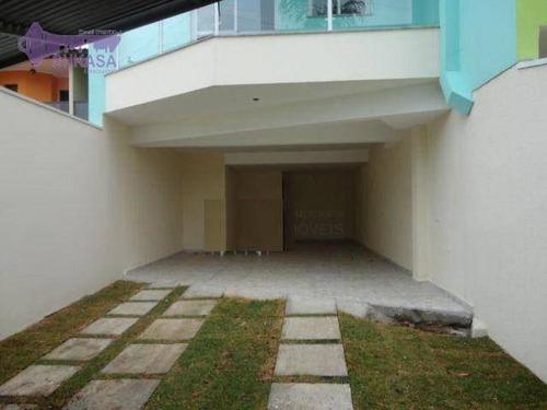 Sobrado Com 3 Dormitórios À Venda, 173 M² Por R$ 935.000,00 - Paraíso - Santo André/sp - So0528