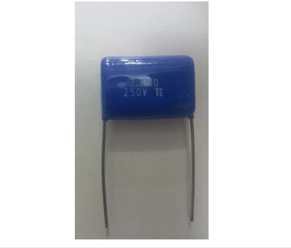 10 Capacitor Poliester 3m3 - 3,3uf X 250v P/ Tweeter Filtros