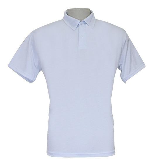 Camisa Polo Masculina P/ Sublimação 100% Poliéster-lote 6 Pç