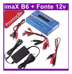 Imax B6 80w Carregador Balanceador Bateria Airsoft + Fonte