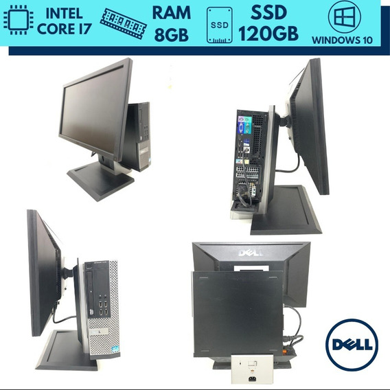 Desktop E Monitor Full Hd 22 Pol Dell I7 Ram 8gb Ssd 120gb