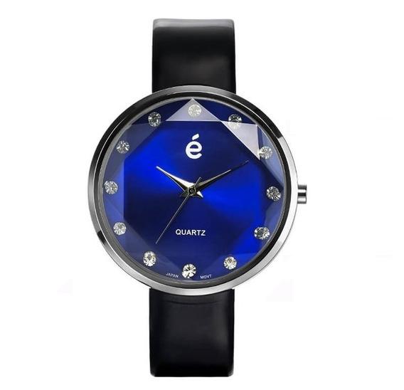 Hermoso Reloj Azul Esika Mujer 12 Cristales Dial Facetado