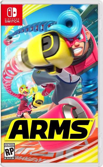 Arms Original Nintendo Switch Jogo Mídia Física Semi Novo