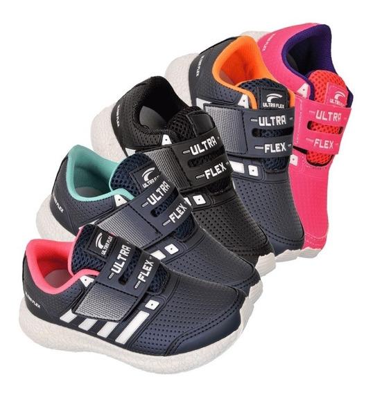 Kit 3 Tênis Infantil Feminino Juvenil Bebê Super Leve Tlx