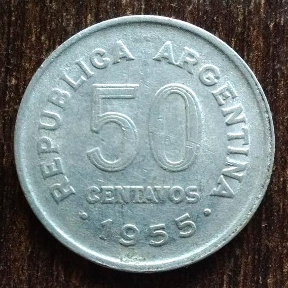 Moneda 50 Centavos Argentina 1955 Muy Buena
