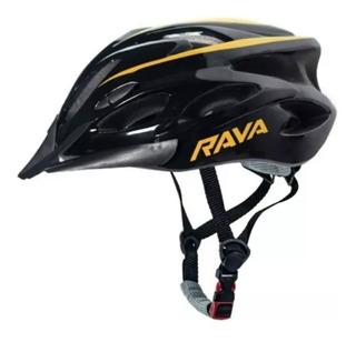 Capacete Bike Tsw Rava Space Mtb M Preto/laranja Brilhante