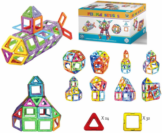 Formas Magnética, Blocos Magnéticos Brinquedo Educativo Imã