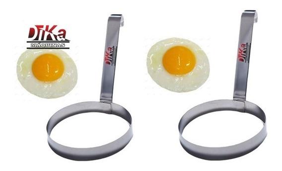 Modelador De Ovos Redondo Aço Inox Profissional Kit Com 2