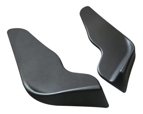 Imagen 1 de 9 de Lip Universal Delantero Front Splitter 2pzas. Plastico Negro