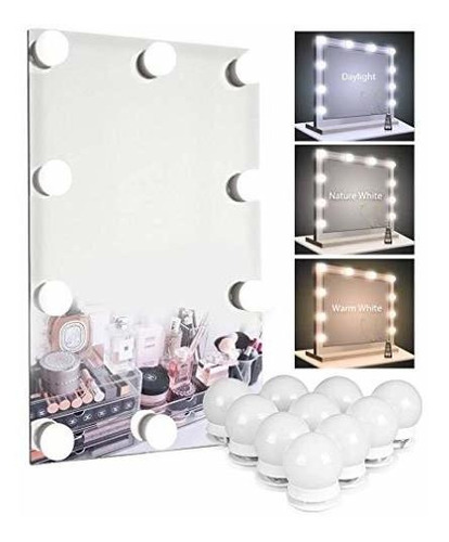 10 Bulbs Vanity Mirror Lights Hollywood, What Bulbs For Makeup Mirror