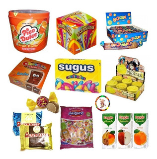 0035- Golosinas 10 Chicos + Jugos Baggio Candybar Candyshop