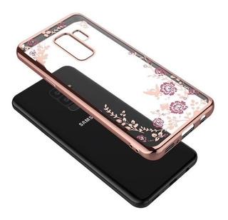 Funda Flores Slim + Mica Cristal Para Samsung Galaxy