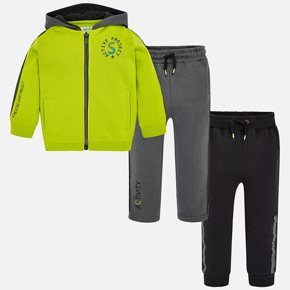Pants Sudadera Y 2 Pantalones Para Niño