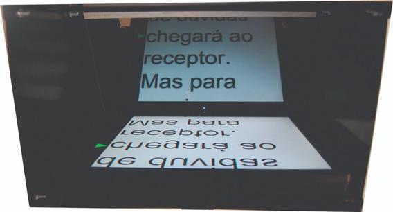 Teleprompter + Monitor Lcd 17 + Cabo Vga 10mt - Caixa Preta