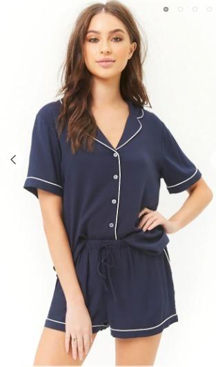Pijama Forever 21 Fibrana Azul Envio Gratis
