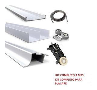 Kit Para Placard Hafele 403.99.11x, 3 Mts. Para 2 Hojas.