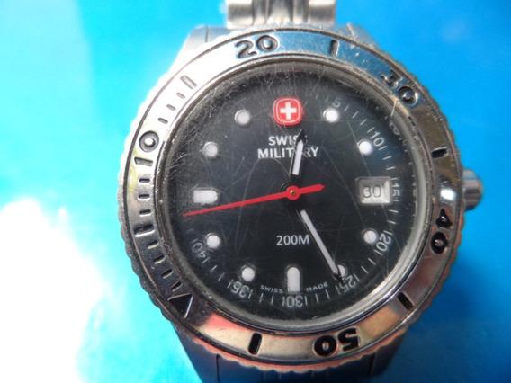 Relógio Swiss Military Calendário Fundo Verde Escuro