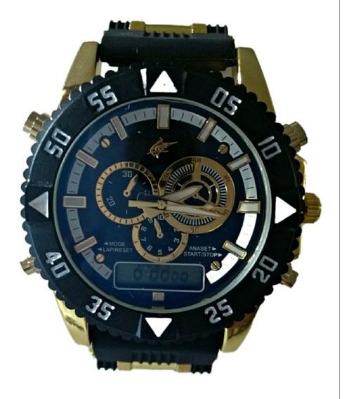 Relógio Masculino Militar Dourado Oferta Barato