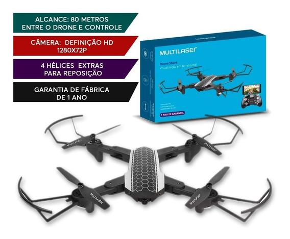 Drone Multilaser Shark Wi-fi Câmera Hd Es177 Preto