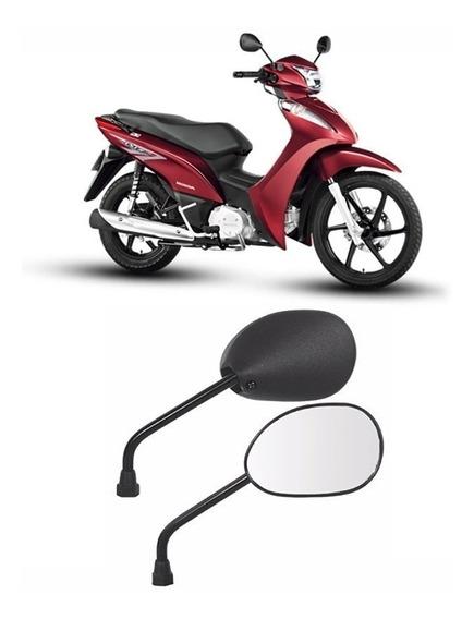 Espelho Retrovisor Par Moto Honda Biz 125 Modelo Original