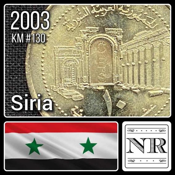 Siria - 10 Liras - Año 2003 - Km #130 - Holograma - Palmyra