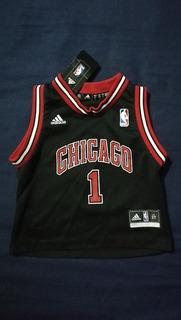 Camiseta Jersey adidas Basketball Nba Chicago Bulls Rose T2