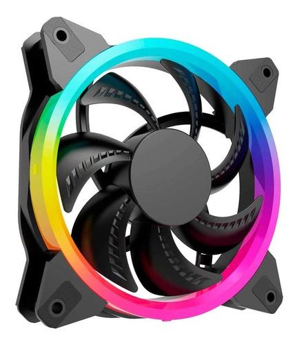 Imagen 1 de 3 de Ventilador Oceltot/gamer/120mm/iluminacion Arcoiris