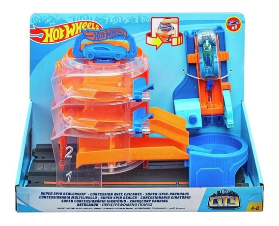 Pista Vueltas Extremas Hot Wheels City + Auto Mattel Fnb15