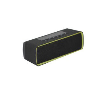 Parlante Rectangular Bluetooth Portatil Negro/verde Kube