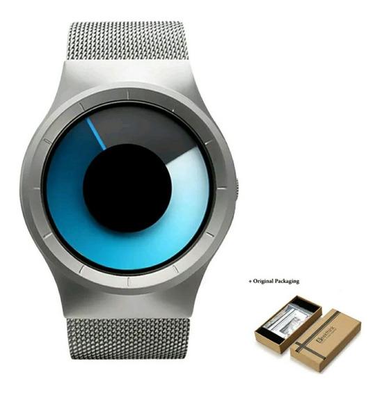 Relógio Importado Unissex Aço Inox Original Estojo Promoção