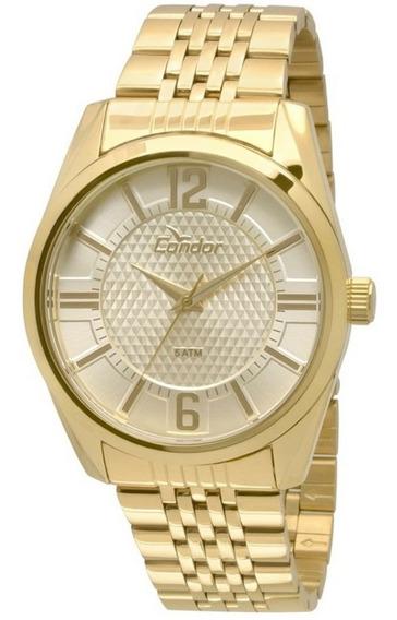 Relógio Condor Masculino Dourado Co2036dc/4x