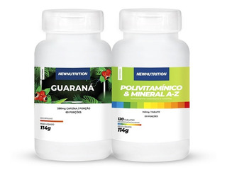 1 Multivitamínico120 Tabletes + Guaraná 120 Capsulas New