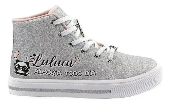 Tênis Infantil Pampili Luluca By Blog Cano Alto Glitter