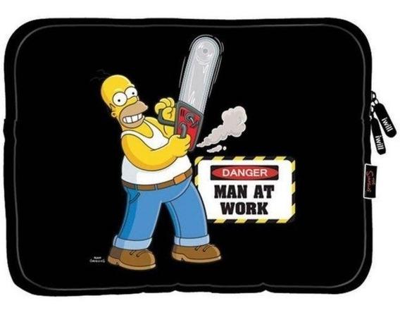 Case Sleeve Luva iPad Tablet Netbook 14.1 The Simpsons