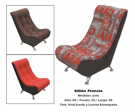 Sillon Modelo Francia Rojo Con Chocolate (cdmx Y Edomex)