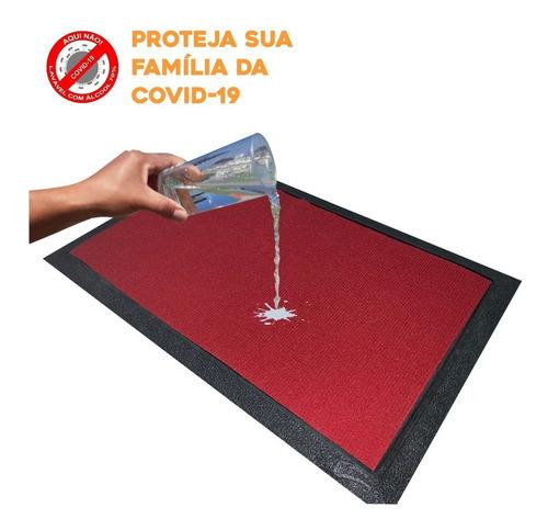Tapete Sanitizante Capacho Descontaminante 60x40 - Vermelho