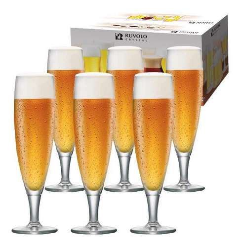 Imagem 1 de 6 de Jogo Taças Ritzenhoff Cristal Cerveja Sokata P  265ml 6 Pcs
