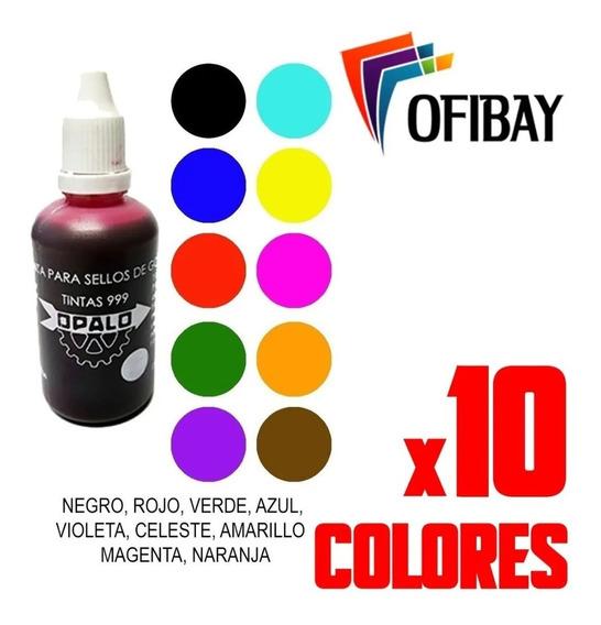 Tinta Para Sellos De Colores Multicolor Opalo 999 Sello X 10