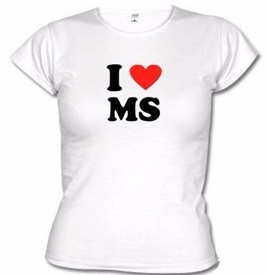 Camisetas Eu Amo Ms Mato Grosso Do Sul