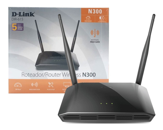 Roteador Wireless D-link Dir-615 300 Mbps 2 Antenas