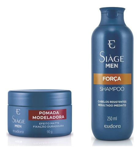 Eudora Siàge Men - Shampoo Força + Pomada Modeladora