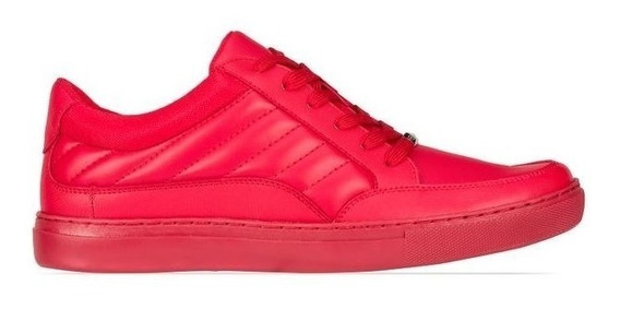 Elegante Tenis Sneaker Juvenil Hombre Gym Sport Rojo 2433547