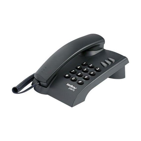 Telefone Intelbras Pleno Com Fio E Com Chave - Preto