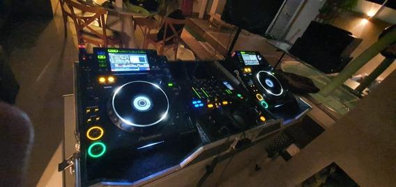 Par De Cdj 2000 Pioneer Com Mixer Djm800 Pionner E Case