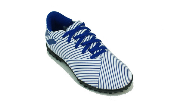 Botin adidas Nemeziz 19.4 Papi Blanco/azul Niño Deporfan