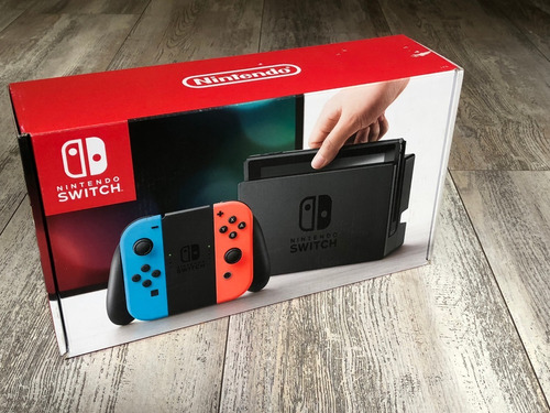 Nintendo Switch Neón 32gb Impecable, Hora De Uso