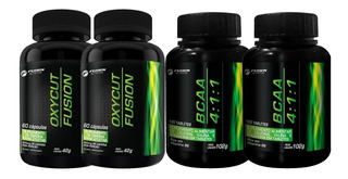 Combo Termogênico + Bcaa Oxycut Bcaa 4:1:1 Fusion Nutrition