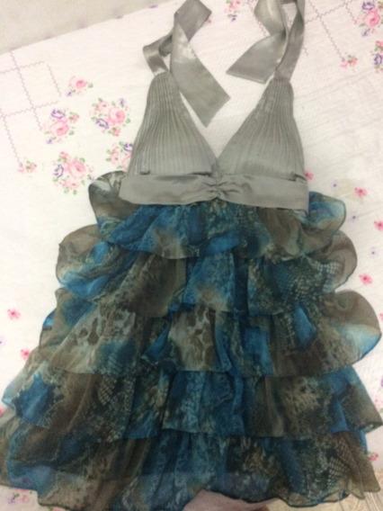 Vestido Seda Com Tafetá